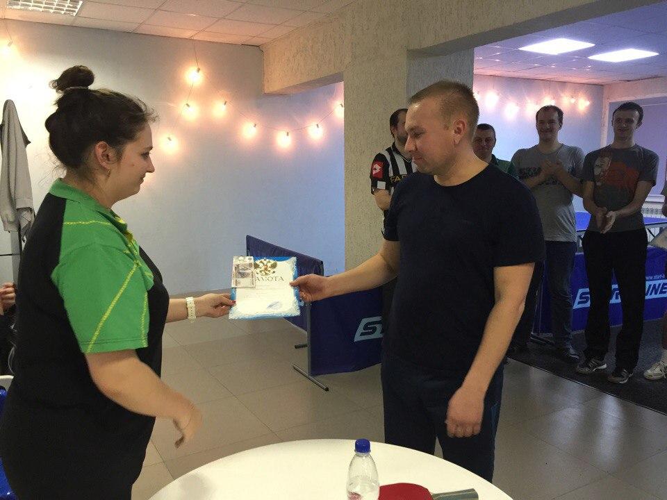 Награждение Кашкарова Андрея (1 место)