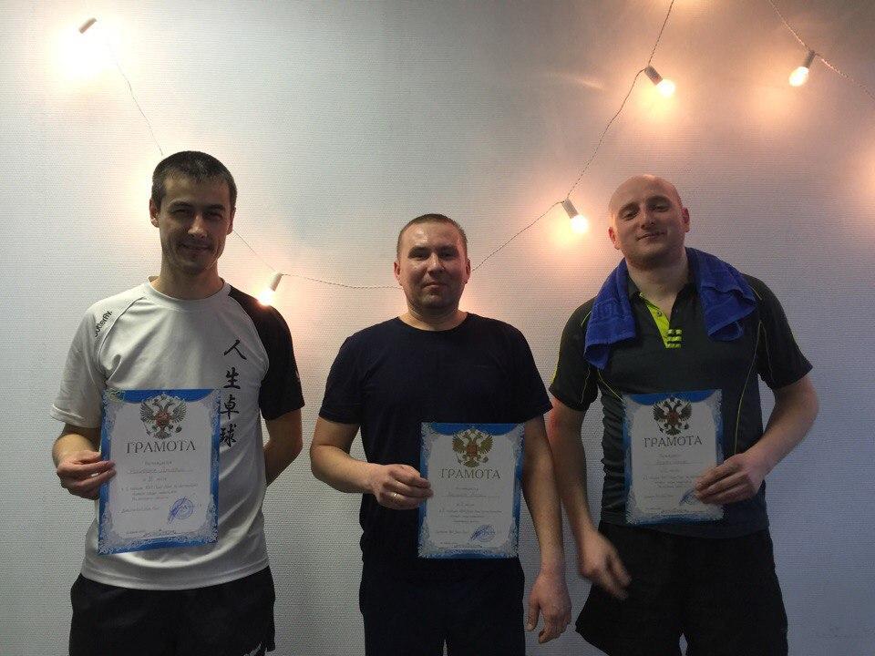 Слева направо: Никифоров Дмитрий (3 место), Кашкаров Андрей (1 место), Абулев Рамиль (2 место)